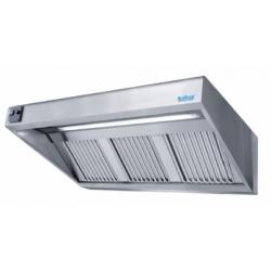 Emhætte med ventilator - Vægmonteret dybde 900 mm - Med belysning-0
