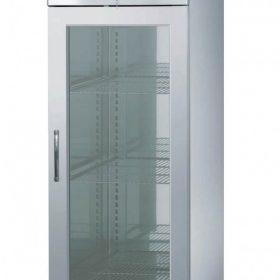 Industrifryseskab 410 liter - stål med glasdør-0