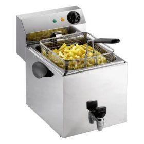 Fryer 1 x 8 liter m. Aftapningshane PROFRI 8V-0
