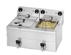 Fryer 2 x 10 liter med aftapningshane, Model Model FE 102 -0