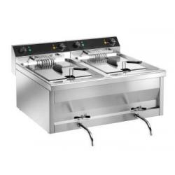 Fryer GASTROLINE 9 + 9 V 2 x 9 liter 6 + 6 KW 400 V - Table Model-0